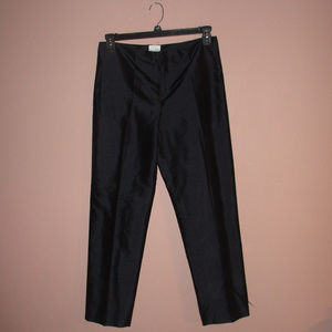 Kate Hill black silk trousers 6P